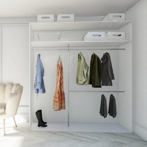 billig garderobeinnredning med garderobestenger tilpasset på mål