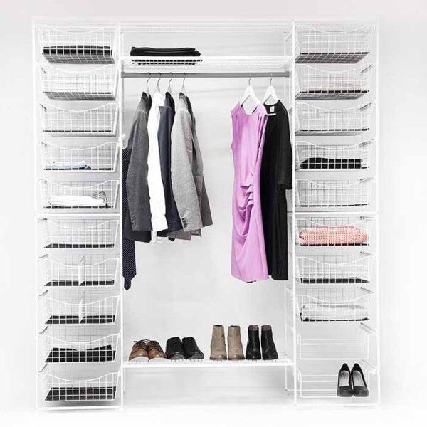smart innredning til garderoben med innredningsstativer
