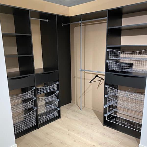 Premium Svart Vinkel innrednings garderobe Bredde 213 x 197 cm_600x600