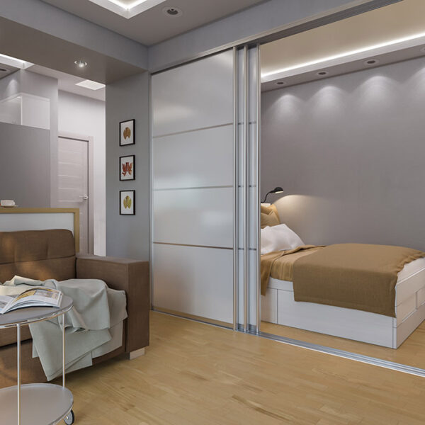 skyvedører mellom stue og soverom