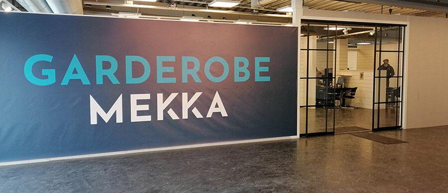 inngangspartiet til butikken til Garderobemekka Trondheim